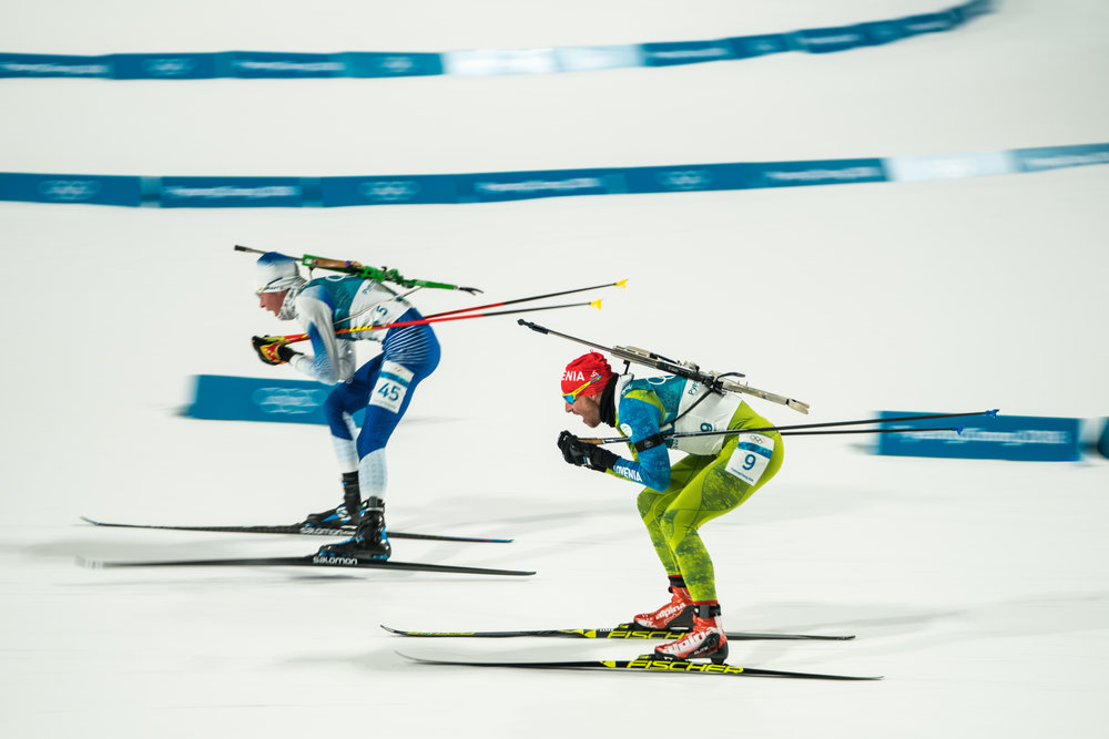 Biathletes at the 2018 Winter Olympic Games
