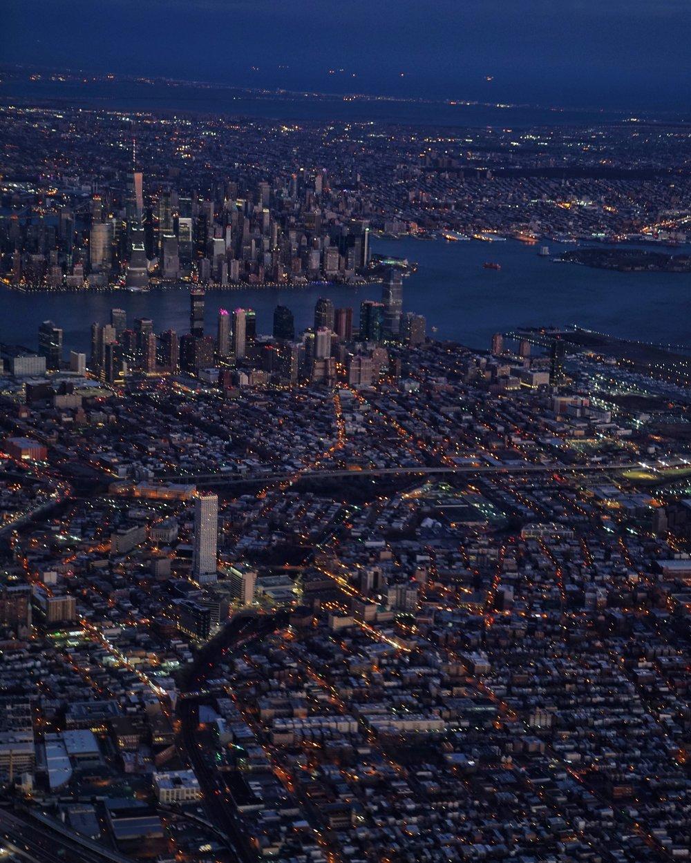 Manhattan on a late-winter evening