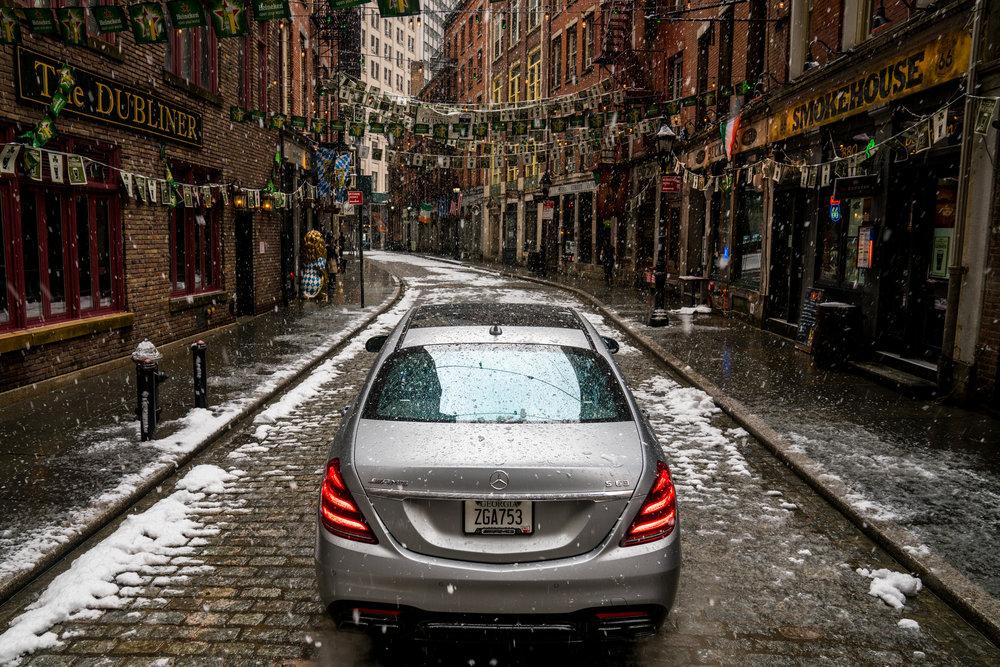 Mercedes S63 on Stone Street, NYC
