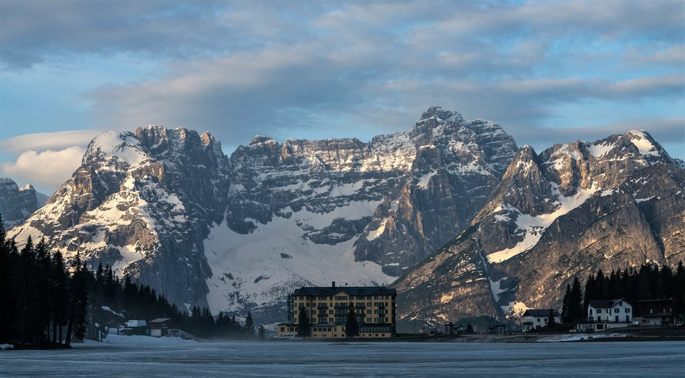 Lake Misurina, Veneto, Italy, in the Dolomites