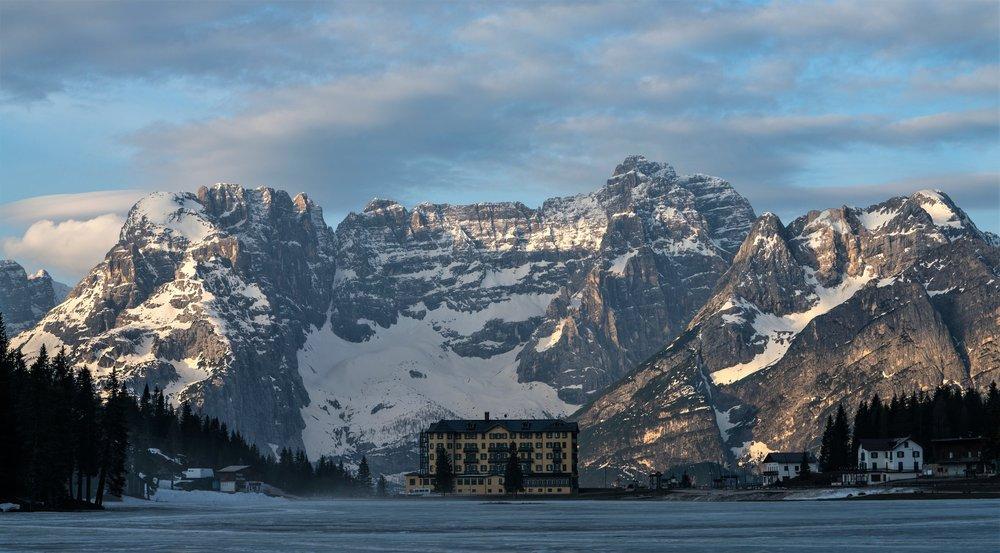 Lake Misurina, Veneto, Italy, in the Dolomites