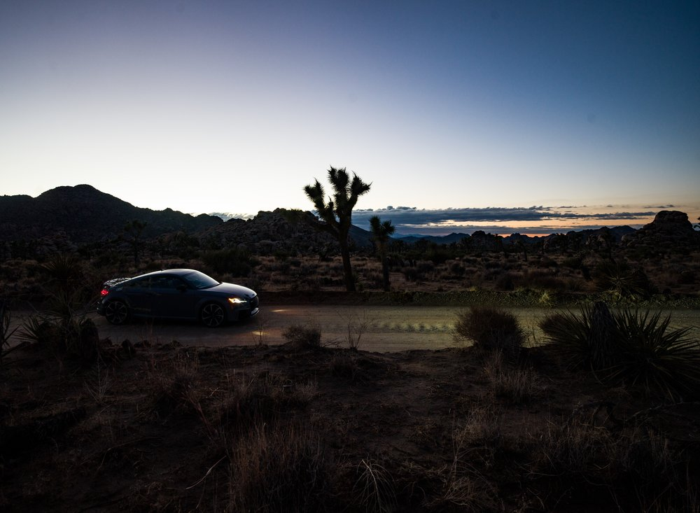 Audi TT RS in Joshua Tree