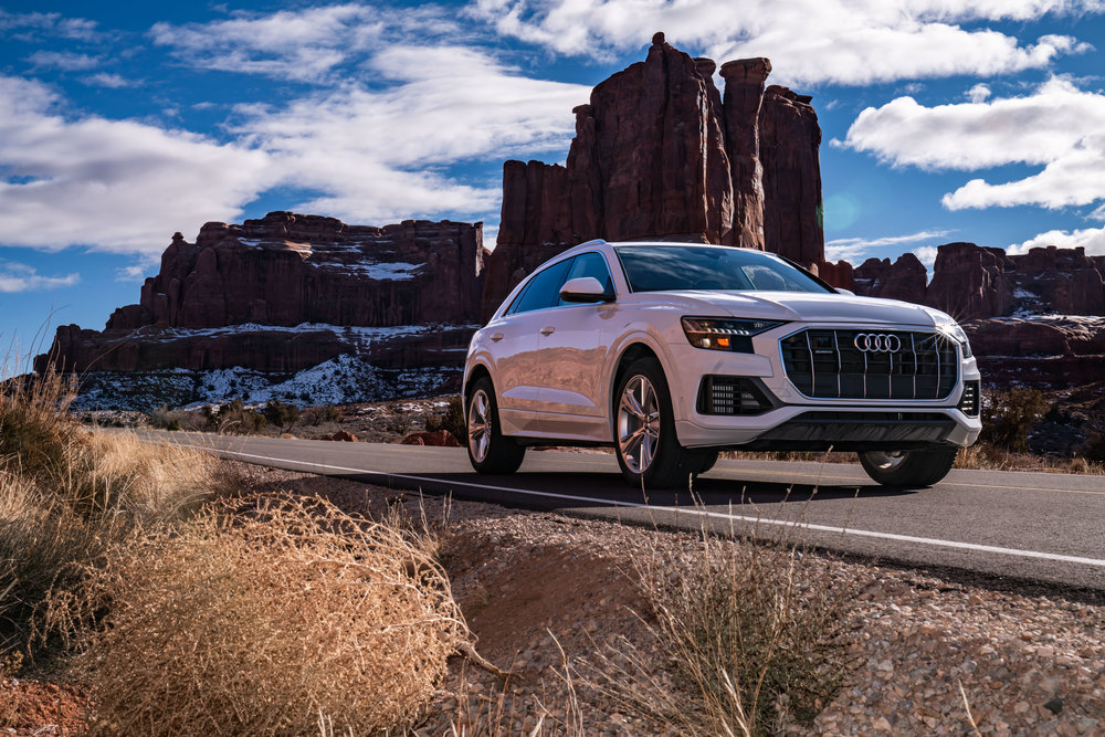 Audi Q8 in Arches National Park