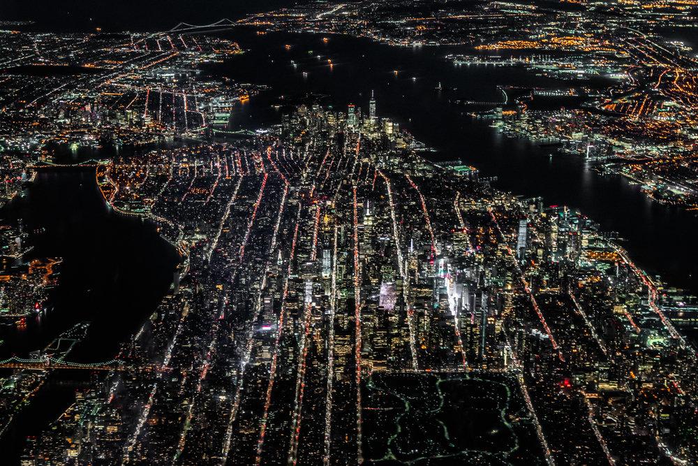 Manhattan from 10,000 feet