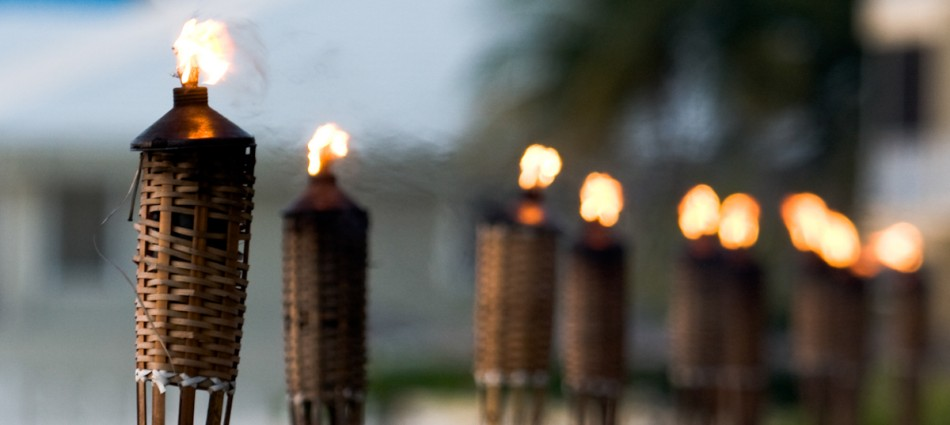 Tiki Torches Red Poppy Rentals