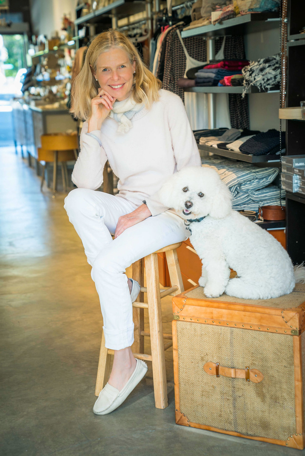 Meet owner Lesley Madison and her co-pilot Fenwick.