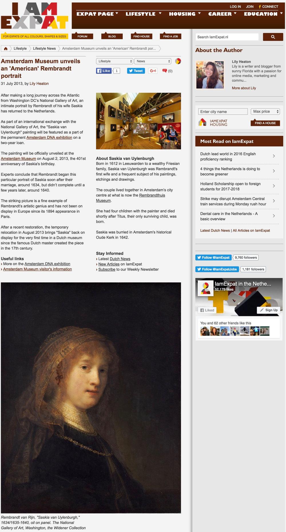 Amsterdam Museum unveils an 'American' Rembrandt portrait