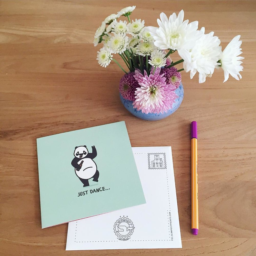 Spring brings lots of reasons to celebrate! Send a smile with our cheerful, Drunk Panda card... It's available in our Etsy shop (link in profile) 🐼