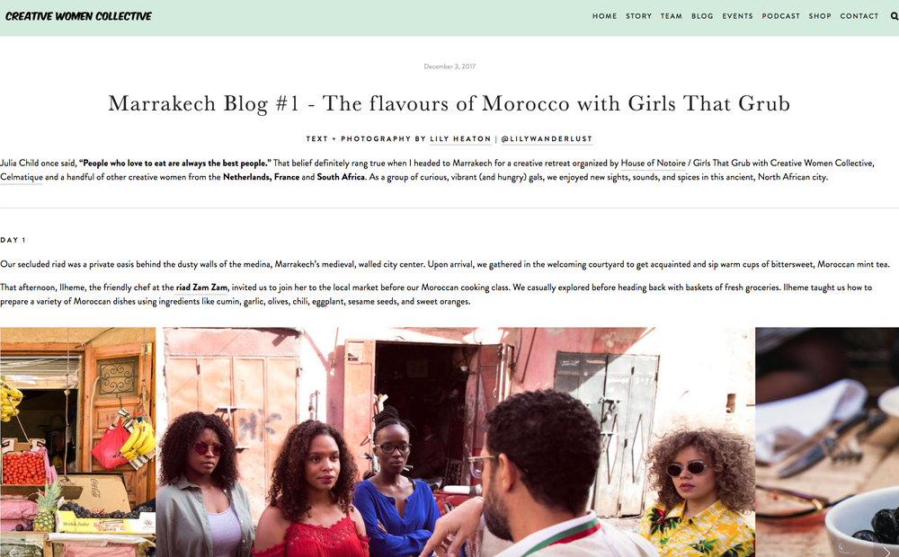 CWC Blog - Marrakech with Girls That Grub