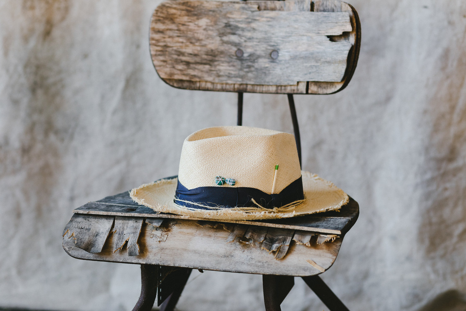 Custom Made Straw Hat By Nick Fouquet — The Unlikely Florist 0ef6801c544e