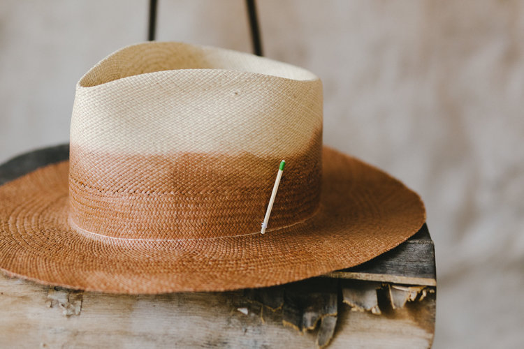 Custom Made Straw Hat By Nick Fouquet — The Unlikely Florist decd8f135fb7