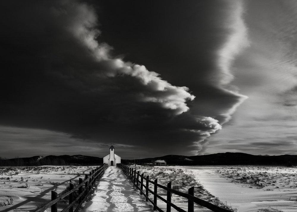 Prairie Church and Lenticular Cloud