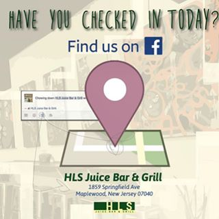 Dont for get to check in and tell us how your doing 🙋🏾‍♂️! - HAVE YOU CHECKED IN TODAY!(find us on Facebook by searching HLS Juice Bar & Grill, tell us how you're doing we'd love to know!!! - HLS Juice Bar + Grill www.hlsrestaurant.com/ #FoodForThought #HLSMaplewood 1859 Springfield Avenue Maplewood, NJ 07040 973-763-1127  Hours of Operation Monday thru Saturday: 10am – 9:30pm #mapso #maplewoodnj #irvington #healthyfood #healthyrecipes #healthyeatinghabits #lifestyles #juicecleanse #veggies #veggiegrill #plantbaseddiet we also have #protiens like #hormonefreechicken , #salmon, #turkey, #bison, and so much more. #breakfastideas #lunchideas #dinnerideas #brunchideas #caterers #mapsomedia