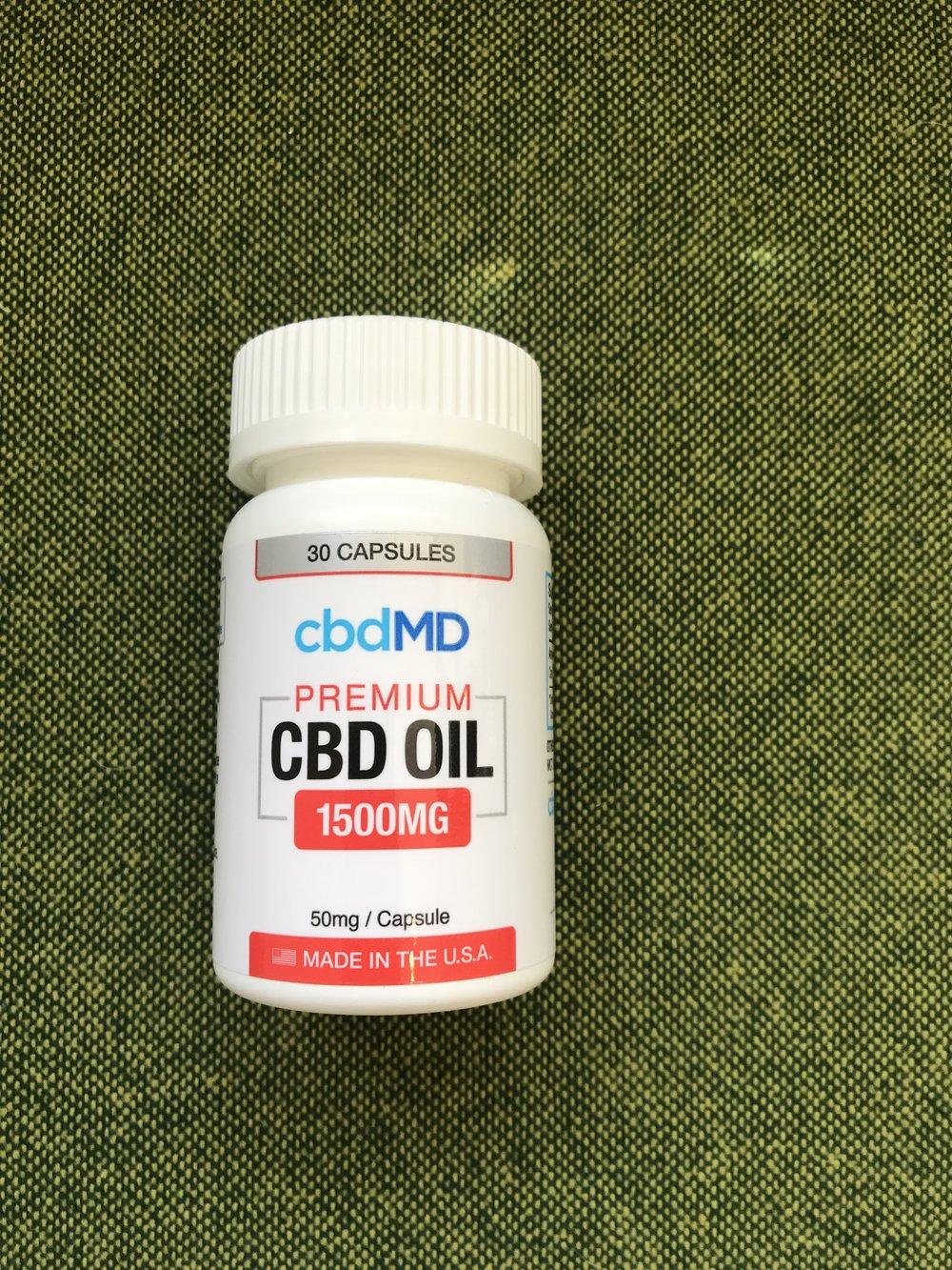 cbdMD Premium Capsules 50mg - $95.00 (30 count)