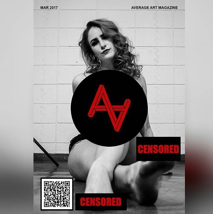 "Average Art Magazine Multiple Works ""Toes Censored For Your Convenience"" on the back cover of the publication. (As seen above) March Issue 2017 http://www.averageart.co.uk/"
