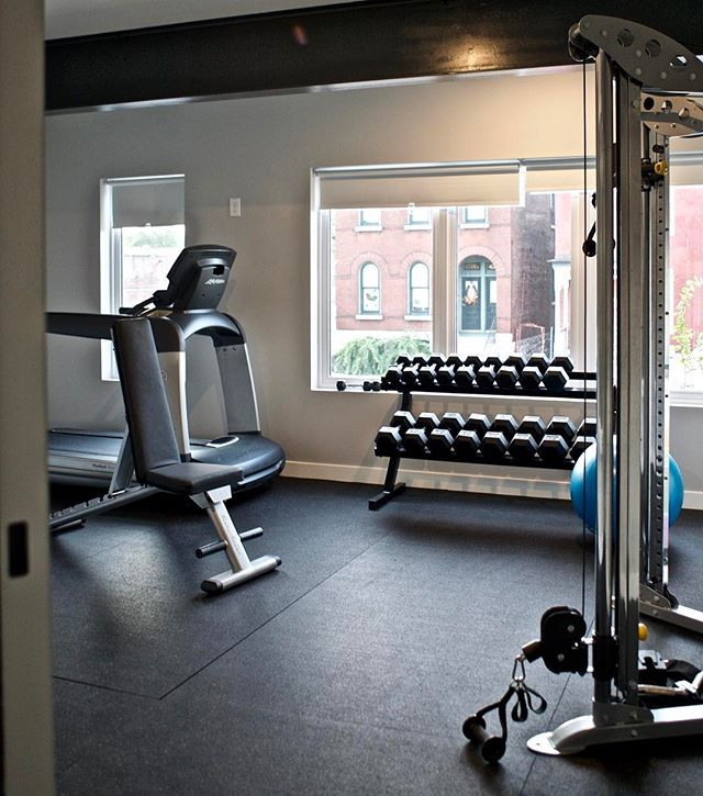 Move in to a gorgeous new urban loft in the Grove AND meet your New Years resolutions in our fitness center! Now leasing: 314-610-0363 or lindsey@4321grove.com #newyearsresolution #loftlife #thegrove #stl