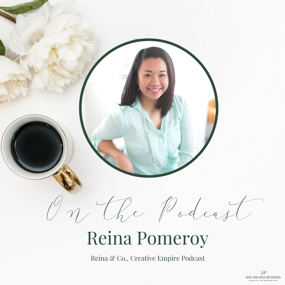 Reina Pomeroy from Reina and Co. tells us how she transitioned from her career as a social worker and wedding planner to her business as a life + biz success coach.