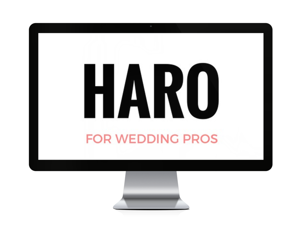 Sign up for this free course where I teach my exact strategy for getting mentioned on BRIDES & She Finds (twice) using a service called HARO.