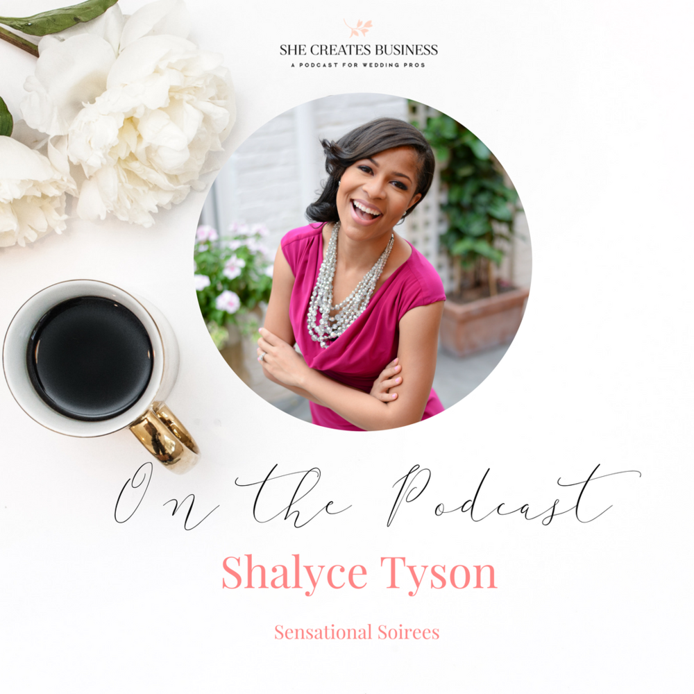 Shalyce Tyson is a wedding planner and the Blog Manager of The Mor Community. Today on the podcast we're talking about the way Shalyce manages her wedding planning business while pursuing other creative projects.