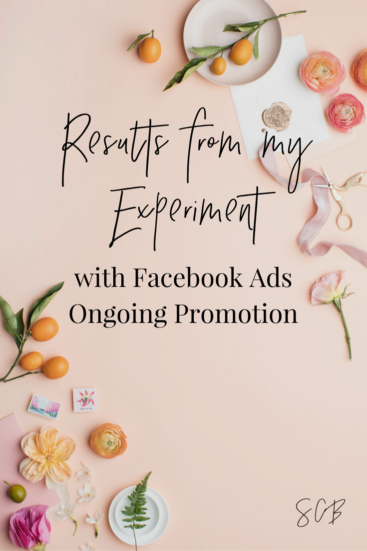 Results from My Experiment with Facebook Ads Ongoing Promotion