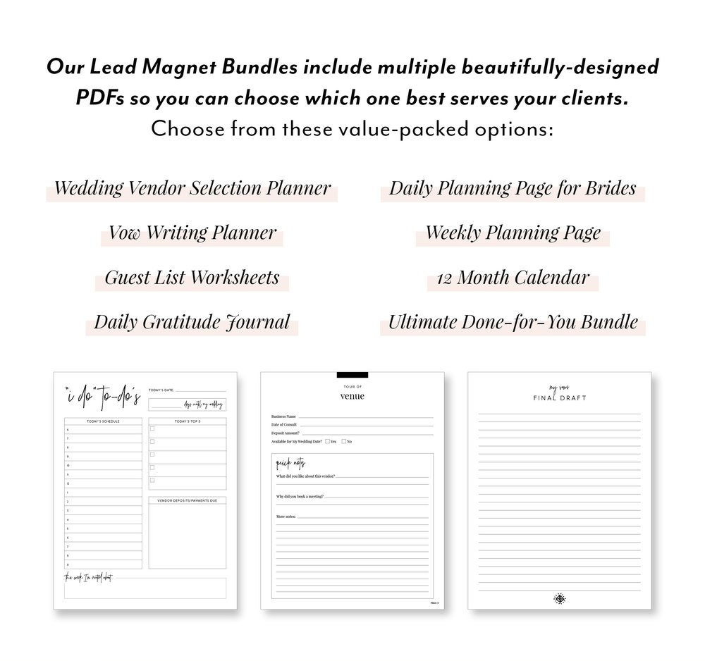 Lead Magnet Ideas for Wedding Planners