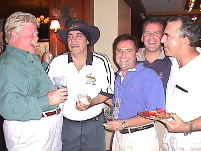 Red Bank Mayor Ed McKenna, Little Steven, unknown (2), Jay Thomas.  Photo by RD Mathers.