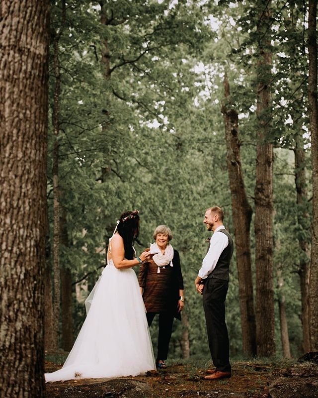Wedding vows in the woods🍃