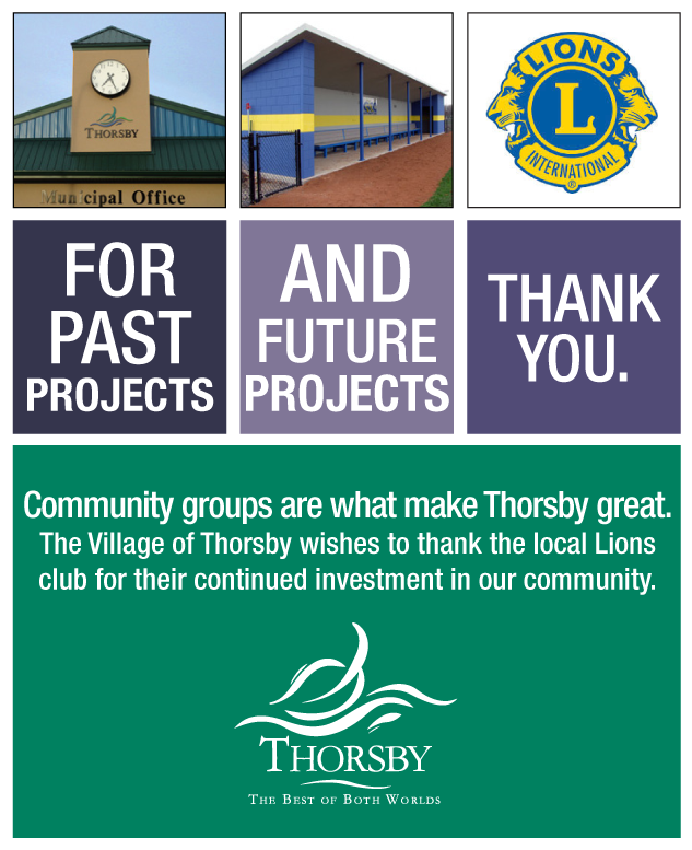 Thorsby lions ad
