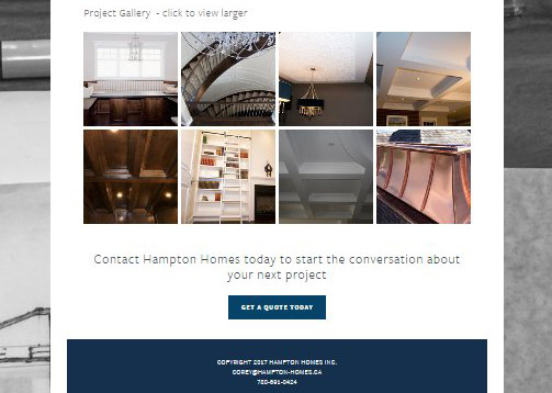 Gallery and footer