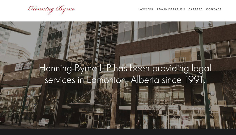 Henning Byrne LLP - Law firms demand a professional-looking site. That's what I aimed for with Henning Byrne. Even sites with basic functionality deserve professional styling.