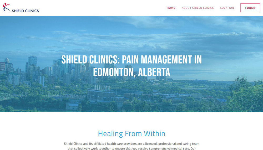 Shield Clinics - Medical services demand a professional site with clear explanations of services. I provided design and content strategy for this cutting-edge clinic.