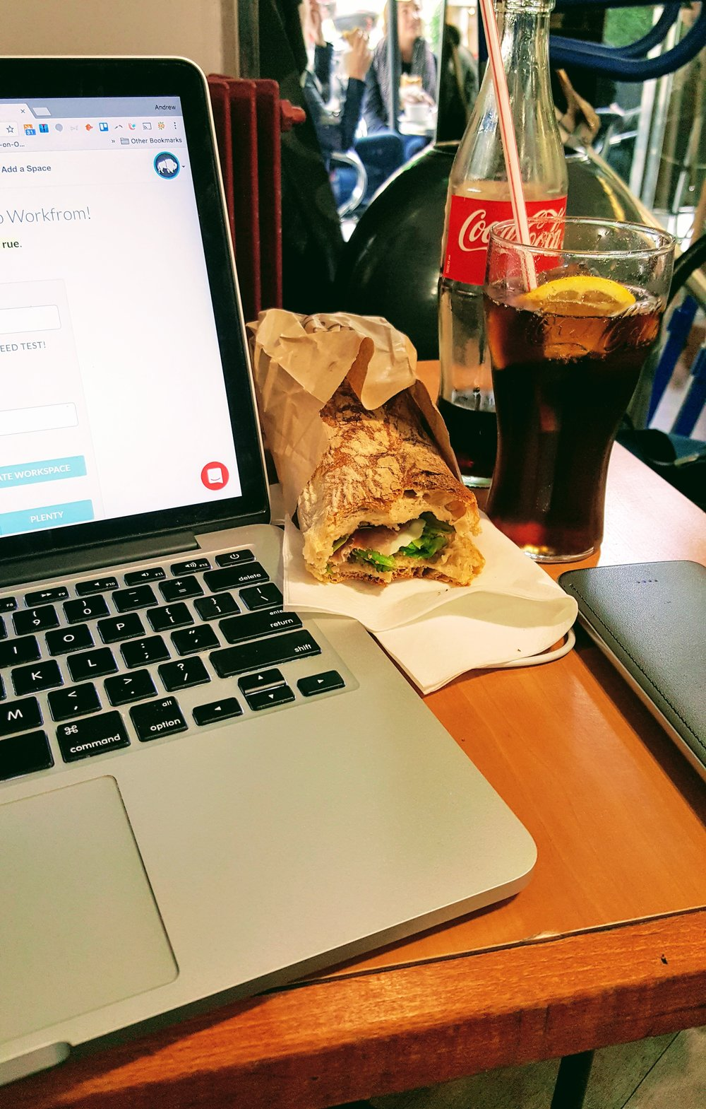 Lunch & work at a local cafe