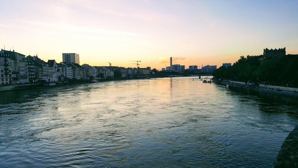 The river that runs through Basel, Switzerland