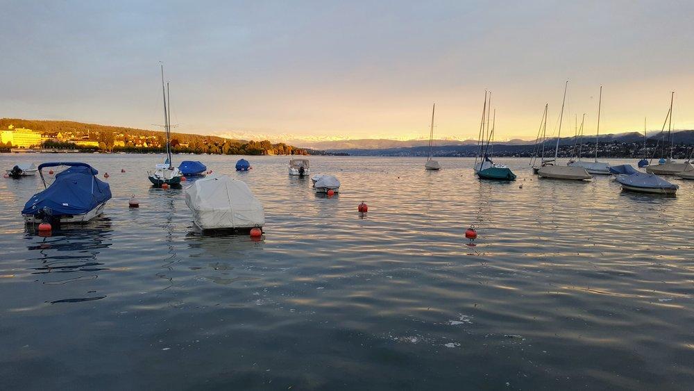 Sunset in Zurich