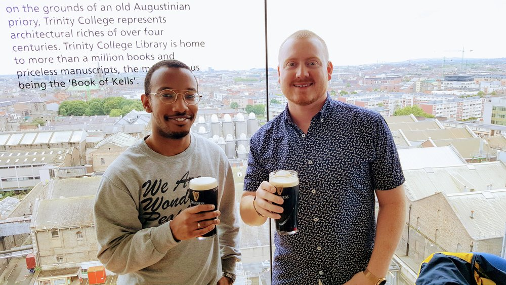 Hassan & I at the Guinness Storehouse panoramic bar