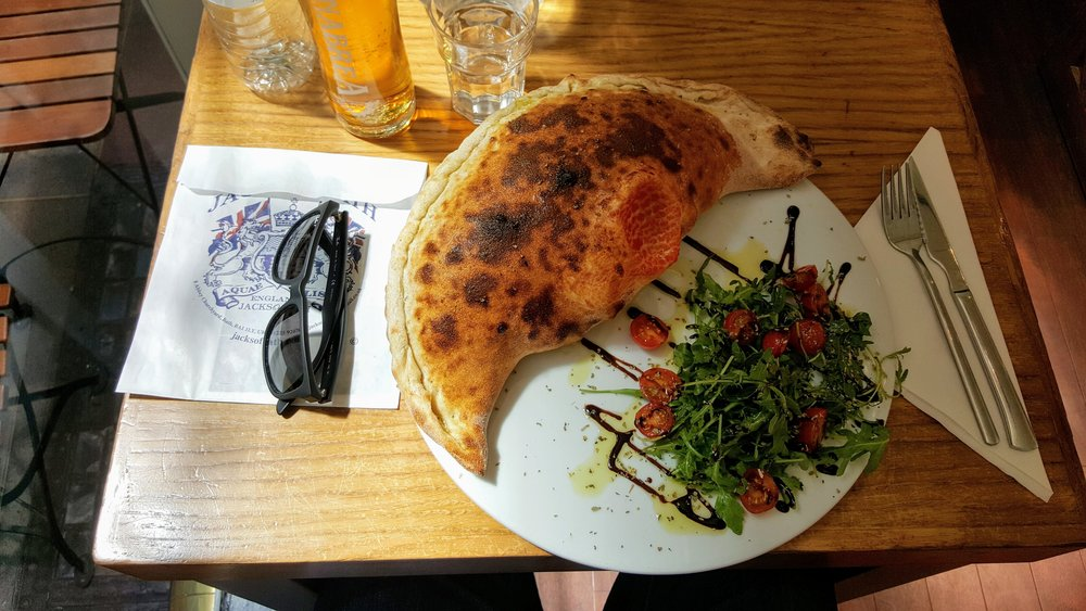The calzone at Dough