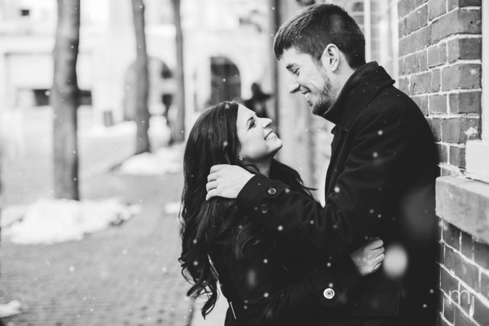 black-white-salem-winter-engagement-session-christmas-lights-snow-boston-wedding-photographer-photo-