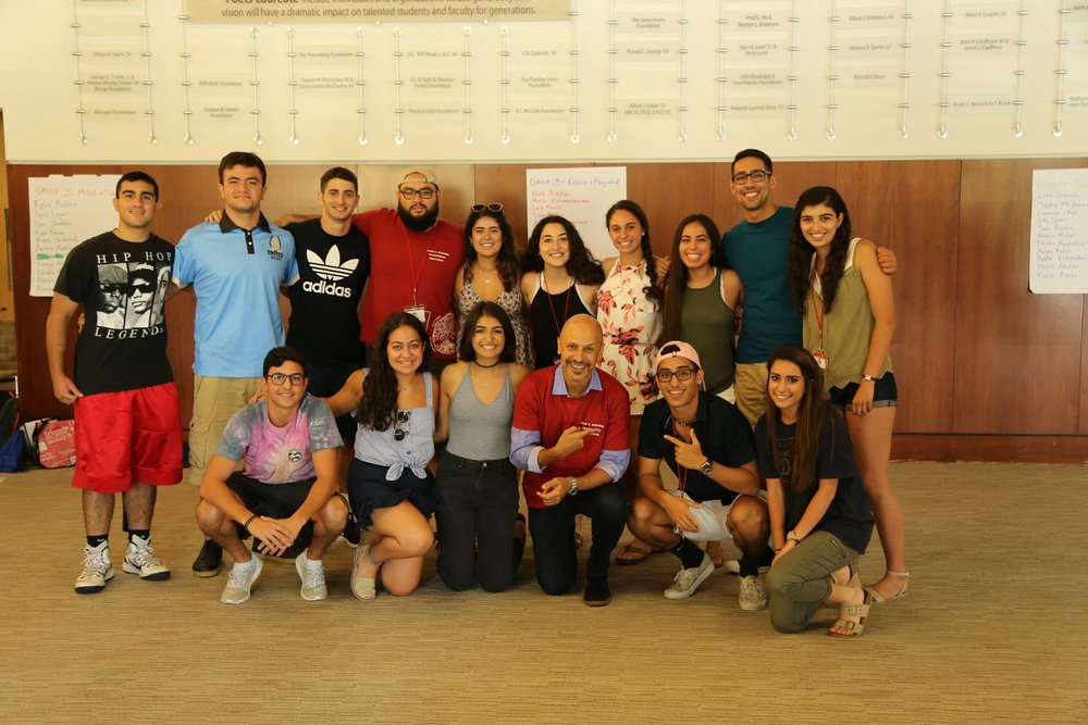Camp Ayandeh 2017 graduates with comedian and actor Maz Jobrani