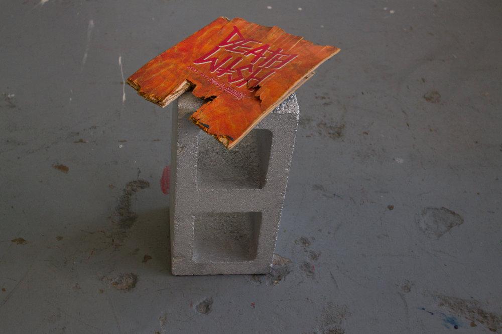 Untitled (Death Wish)  found object, cinder block, & enamel  13 x 16 x 7.5  2016