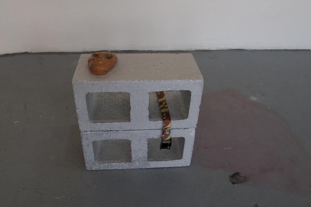 EastMountainBoys  ceramic, enamel, cinder blocks, & readymade  15.5 x 7.5 x 15.5  2016