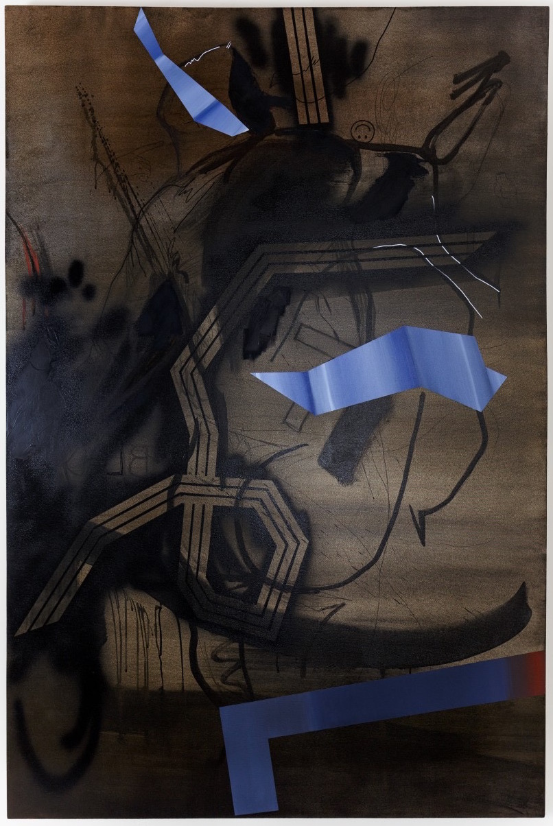 Pain's Grey  oil & enamel on canvas  48 x 72  2015
