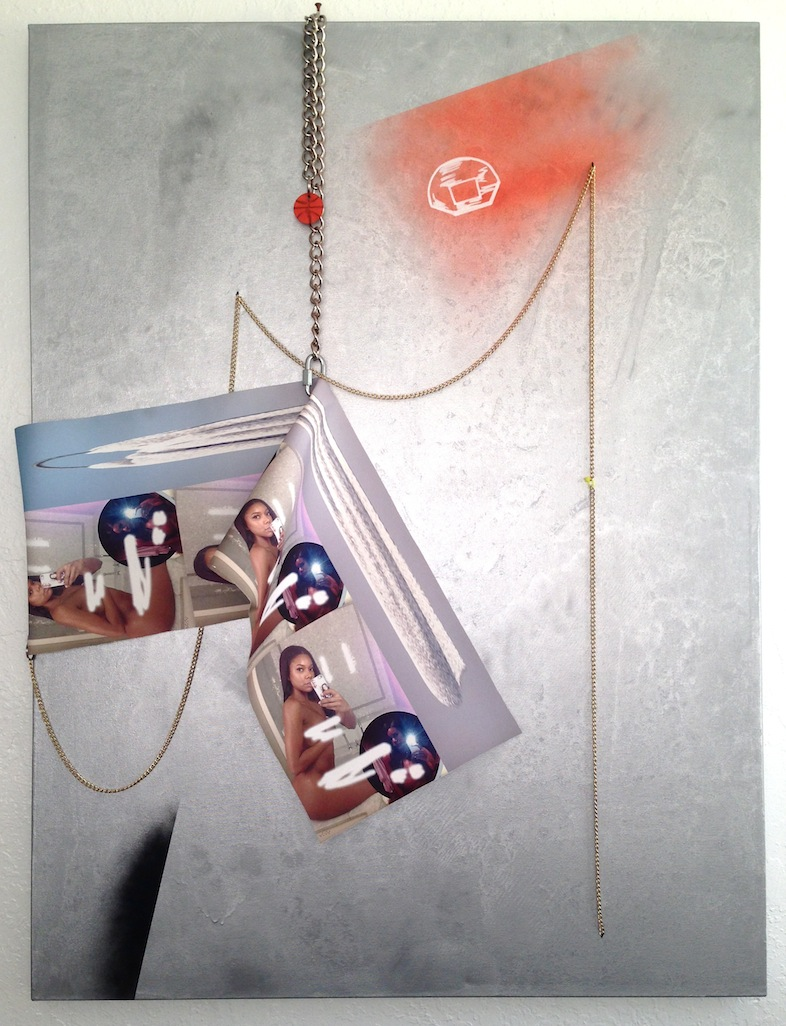 whiteheadlines   mixed media on canvas  38 x 48  2014