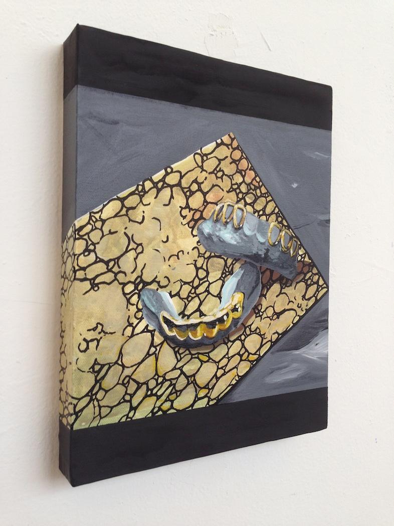 Still Life (FLA-TX-NM)  acrylic & enamel on canvas  9 x 12  2014