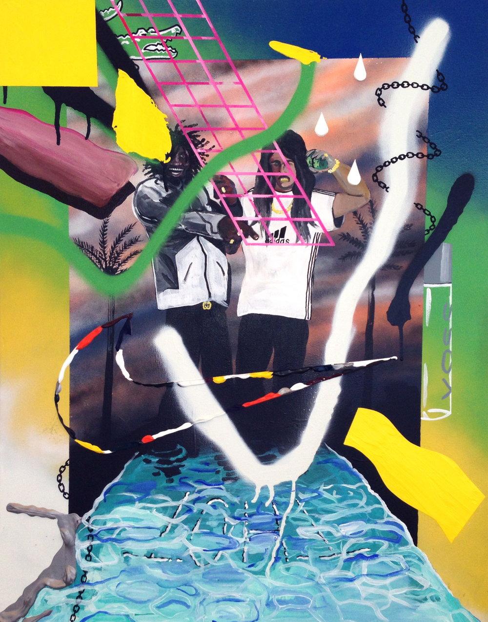 vossbythebox  acrylic on canvas  18 x 24  2014