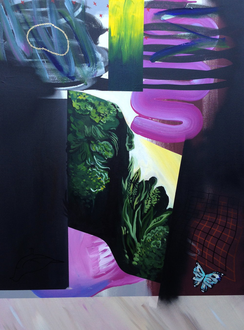 Warm/Brunch (diptych)  acrylic on canvas  30 x 40  2014
