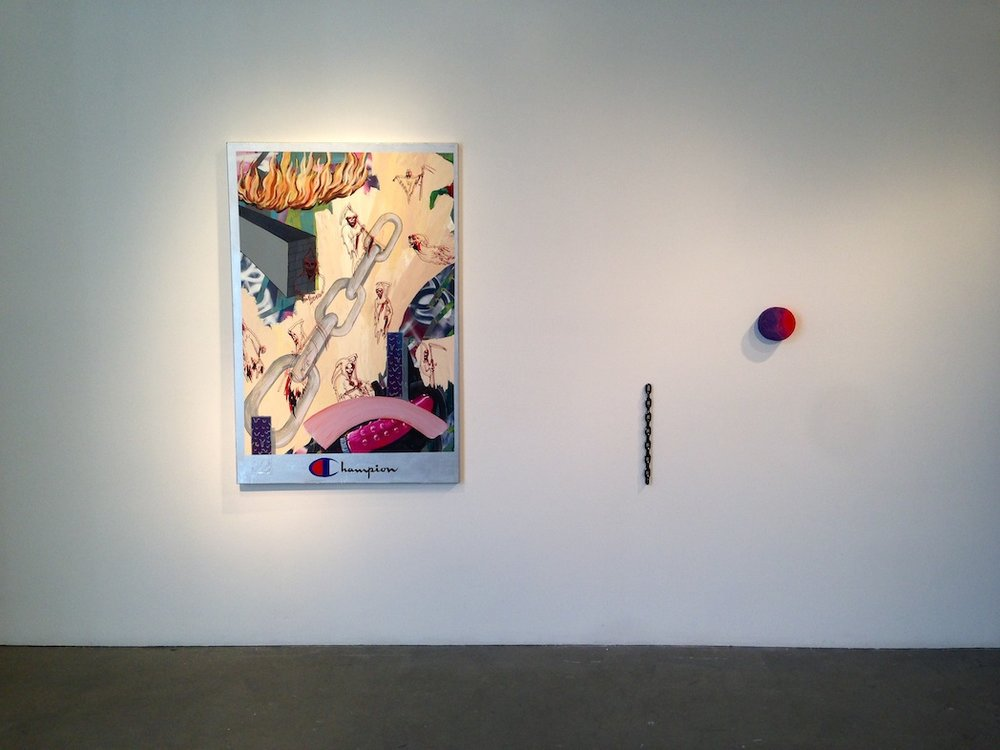fearthereaper (installation view)  acrylic, oil, & enamel on canvas  48 x 60  2014