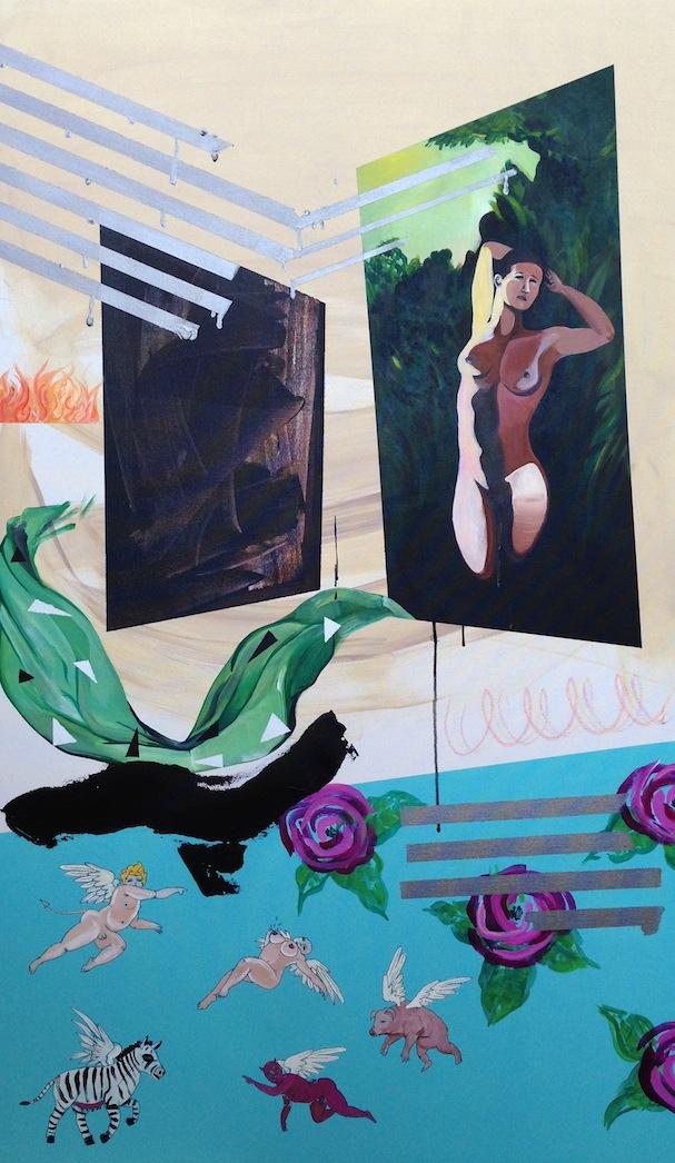@boychild  acrylic on canvas  30 x 60  2014