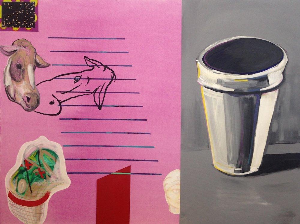Cup  acrylic on canvas  36 x 48  2014