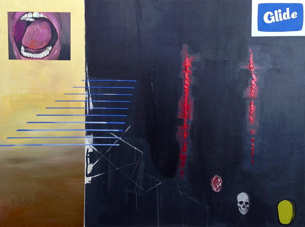 Glide  acrylic on canvas  36 x 48  2014