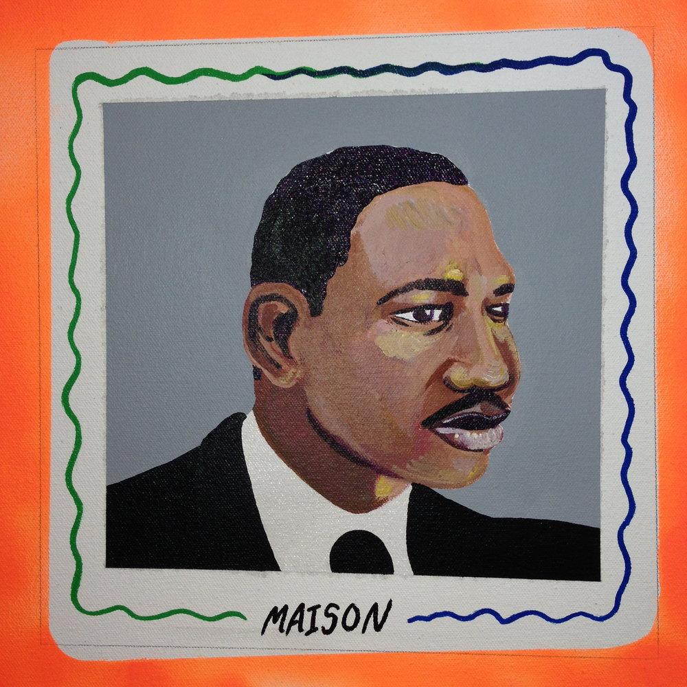 Maison Martin  acrylic on canvas  12 x 12  2014